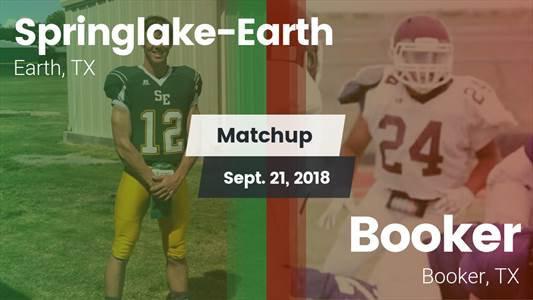 Football Game Recap: Springlake-Earth vs. Booker