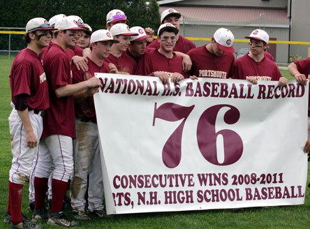 It looks like the Portsmouth High baseball program will need a new banner, as it recaptured the national record for consecutive victories with No. 88.