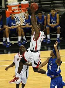 Jabari Bird had four big dunks on Saturday night.