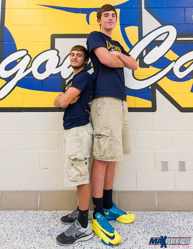 Routt (right) also has earned statewide recognition in baseball as a pitcher.
