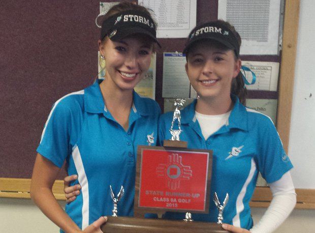 The Galloway sisters (Dominique on the left, Jacque on the right) are the first family in New Mexico high school girls golf.