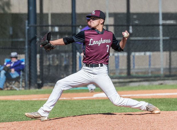 Colson Kostelnik delivers from George Ranch during a recent outing against Lufkin.