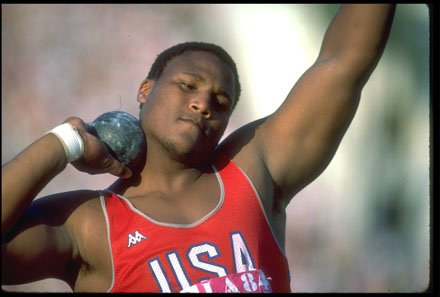 Michael Carter in the 1984 Los Angeles Olympics.