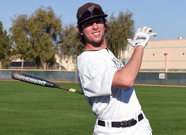 First baseman Nick Brueser was the MaxPreps National Junior Player of the Year last season.