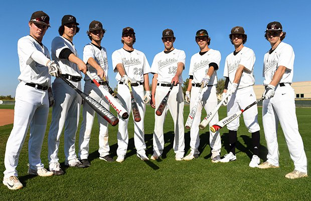 The Huskies are loaded with talent and are led by players (left to right) Brayden Merritt, Dominic Hamel, Ryan Turner, Nick Brueser, Ryan Luse, Cole Bellinger, Drew Swift and Colton Snelling.
