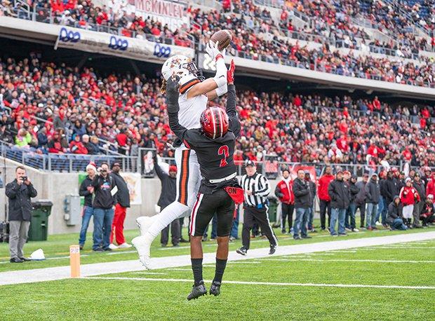 Massillon Washington senior and Ohio State recruit Jayden Ballard caught 18 touchdowns last season.