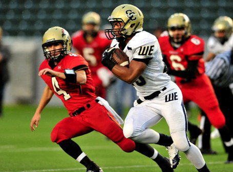 Rey Vega and Central Catholic set the state finals record for most rushing yards in a game.