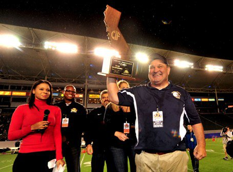 Coach Roger Canepa didn't just lead his Central Catholic team to the Division IV state title - he led his team to the biggest blowout win in state finals history.