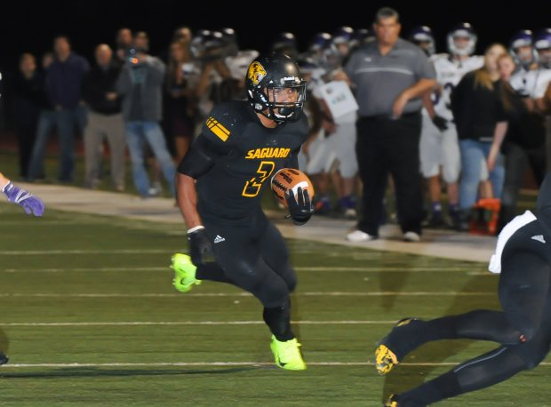 Christian Kirk in action for Saguaro during a 2014 playoff game.