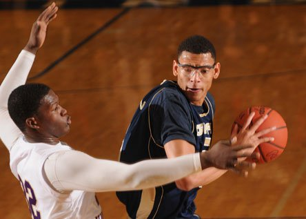 Isaiah Austin led Grace Prep to a victory Monday in Ohio. It wasn't a crisp win - but a victory nonetheless.
