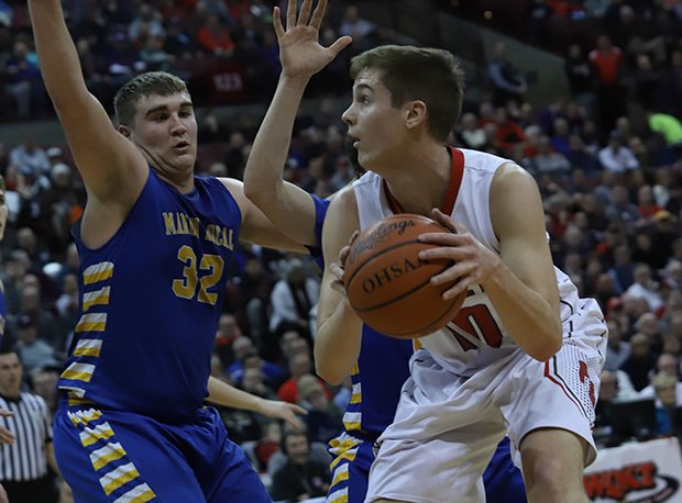 Pandora-Gilboa senior Drew Johnson scored 24 points (19 in the first half) of a 56-54 D-IV semifinal loss to Marion Local.