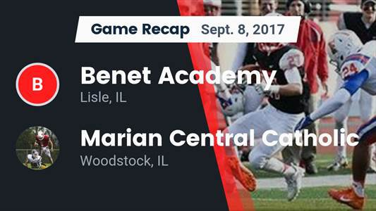 Football Game Preview: Marist vs. Benet Academy
