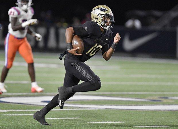 Bosco junior quarterback Pierce Clarkson rushed for two second-quarter touchdowns.