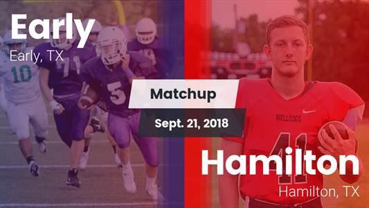 Football Game Recap: Early vs. Hamilton