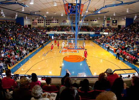 Reed Conder Gymnasium played host to big crowds over the weekend as fans flocked to see top prospects Andrew Wiggins and Aaron and Andrew Harrison.
