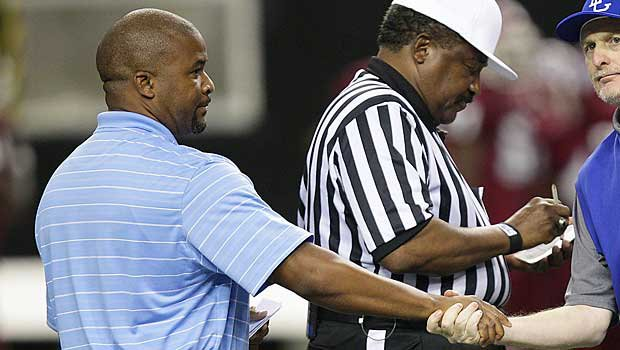 Dell McGee (left), a successful Georgia high school football coach at Carver, is now on his way to Auburn.
