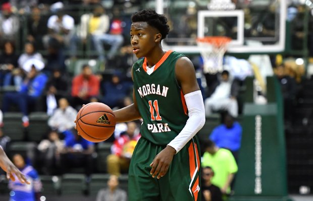Point guard Ayo Dosunmu helped Morgan Park head coach Nick Irvin win his third state title since 2013.