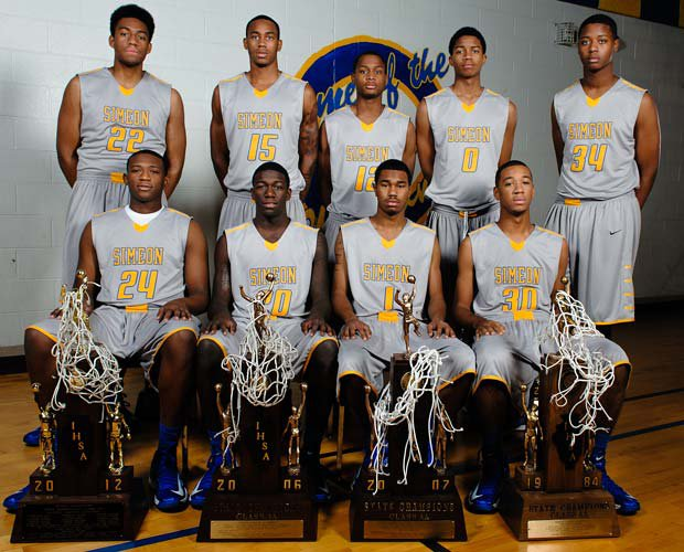 The 2012-13 Simeon varsity team has 10 Division 1 prospects, including these nine players above.