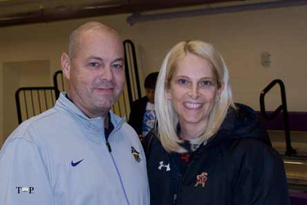 Reynoldsburg coach Jack Purtell, shown here with University of Maryland coach Brenda Frese, has his team in the Xcellent 25 this season. And he's got a sophomore, Alyssa Rice, who has captured interest from Division 1 coaches like Frese.