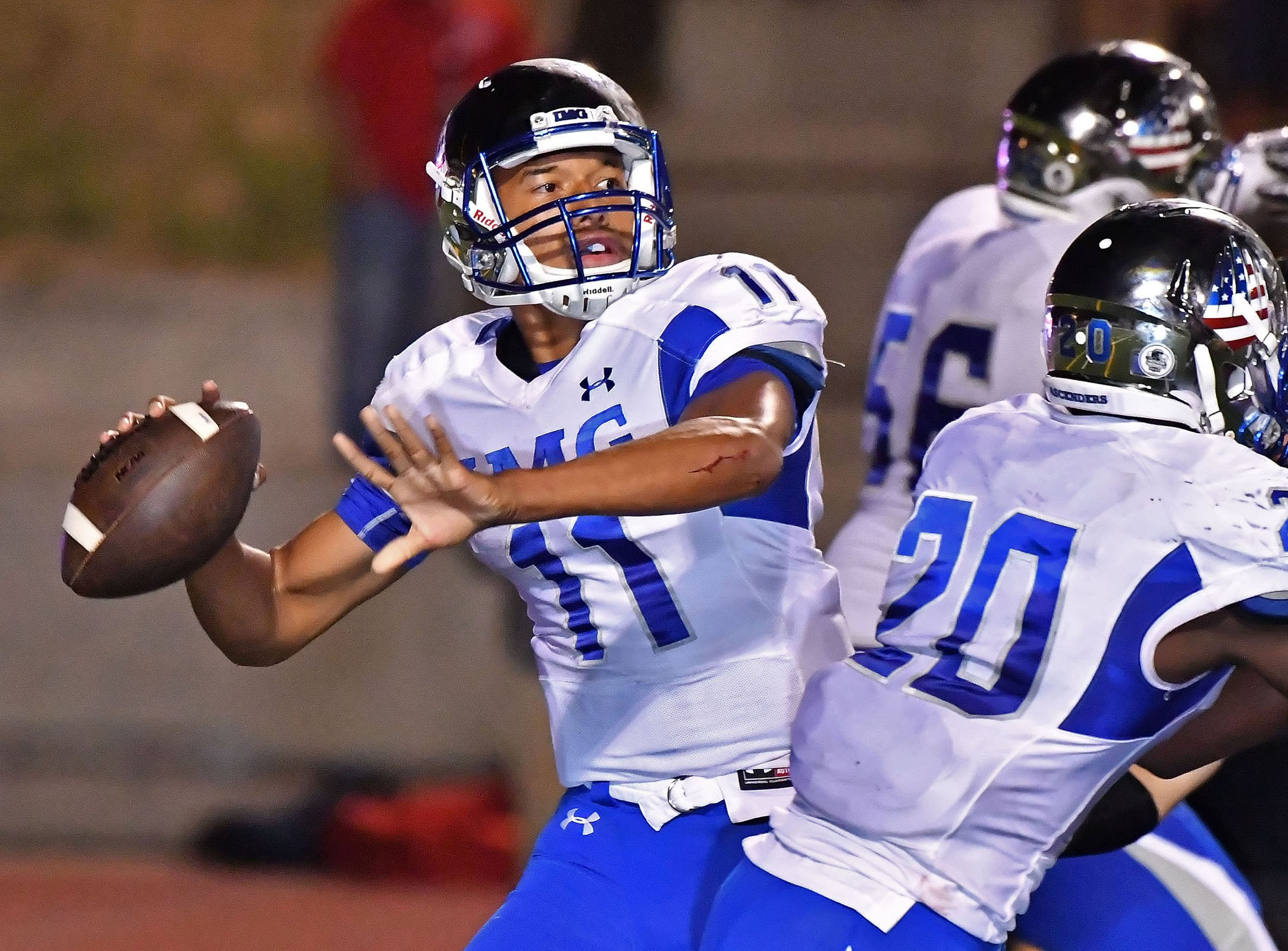 Quarterback Kellen Mond led No. 2 IMG Academy to a thrilling 50-49 victory over No. 19 Centennial-Corona on Saturday night in California.