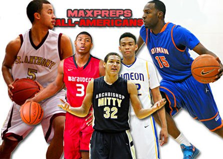 First team All-Americans (from left): Kyle Anderson, Marcus Smart, Aaron Gordon, Jabari Parker and Shabazz Muhammad.