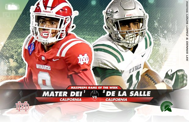 No 1 Mater Dei Vs No 8 De La Salle High School Football Preview