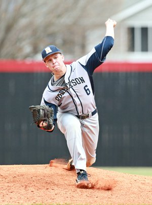 Davidson dazzles on the mound, as well as in thebatter's box.