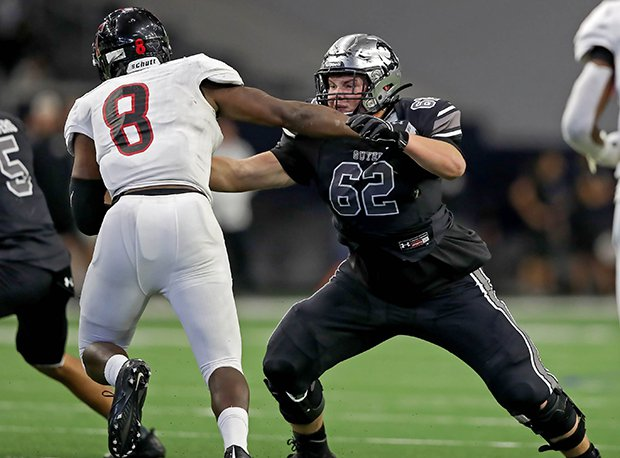 Denton Guyer offensive lineman Gabe Blair holds seven offers including Virginia Tech, Tulane, Tulsa and Air Force.