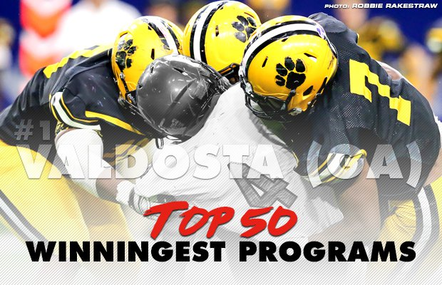 finest selection 682d5 04cff ... of the football programs in the country. Top 50 All-time Winningest  High School Football Programs. Graphic by Ryan Escobar