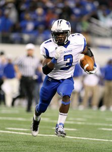 Trey Williams rushed for 197 yards and three scores.