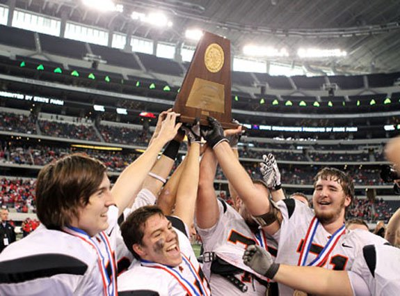 The celebrations never get old for Aledo at Cowboys Stadium.