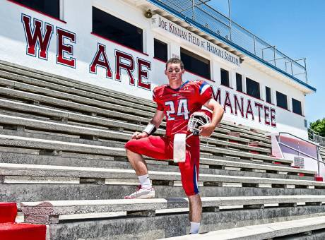 Manatee's Cord Sandberg is our pick as the top quarterback in Florida this season.