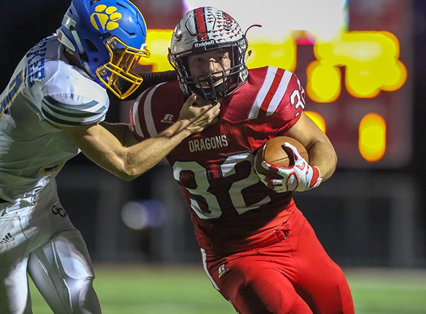 New Palestine (IN) junior running back Charlie Spegal led the region in rushing yards, touchdowns and points.