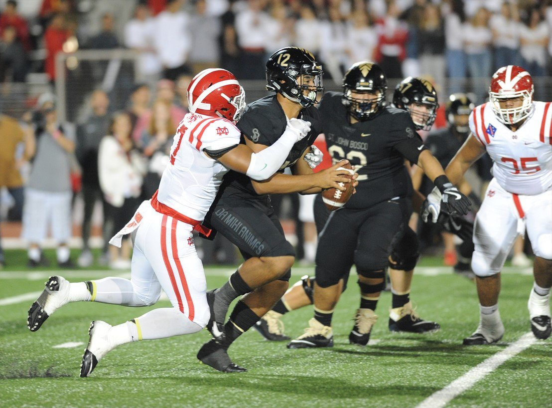 Mater Dei remained No. 1 after beating St. John Bosco on Friday.