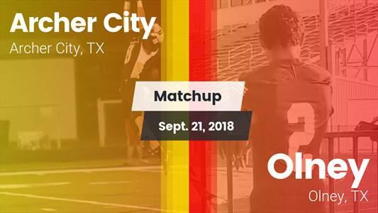 Football Game Recap: Archer City vs. Olney