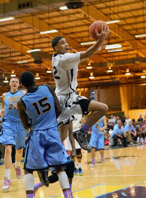 Jayson Tatum impressed college coaches at the  EYBL Session One Saturday with a variety of  makes from around the hoop and perimeter.