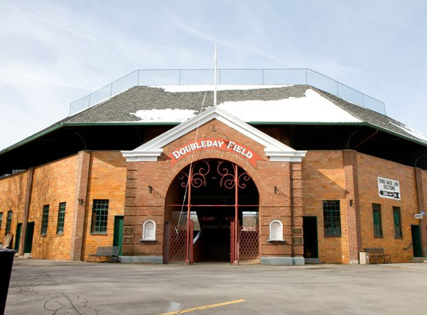 Doubleday Field stands in its glory in Cooperstown.