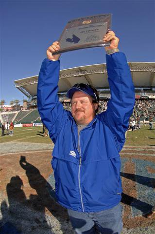 Todd Gerhart celebrates 2006 Southern Section title.