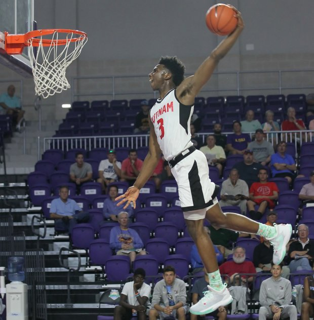 Hamidou Diallo rises for a dunk last December at the City of Palms Classic.