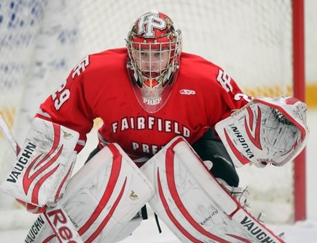 Goaltender Matt Beck was one of the key's to Fairfield Prep's 3-1 win over Notre Dame-West Haven last week. The Jesuits  improved to 7-0.