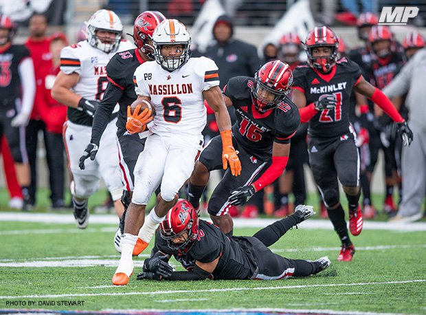 Washington (Massillon, Ohio) ran its win streak over archrival McKinley (Canton, Ohio) to four as the teams met for the 130th time last Saturday.