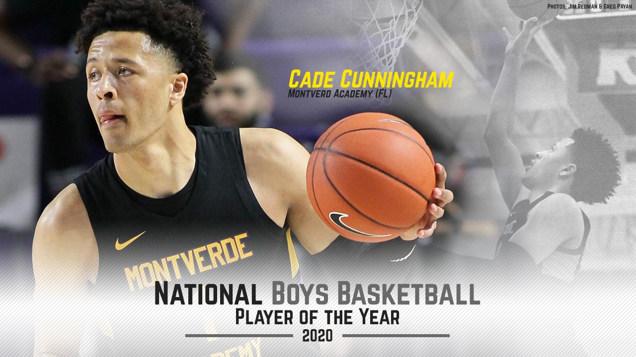 National Player of the Year Cade Cunningham of Montverde Academy.