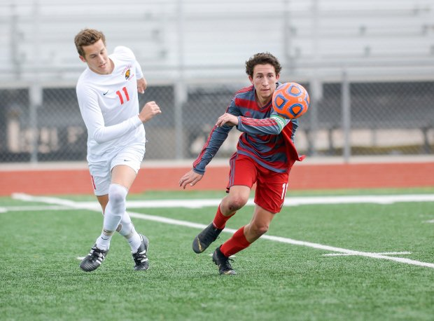 Francesco Montanile in action during Arizona's Class 6A semifinal game against Chaparral.