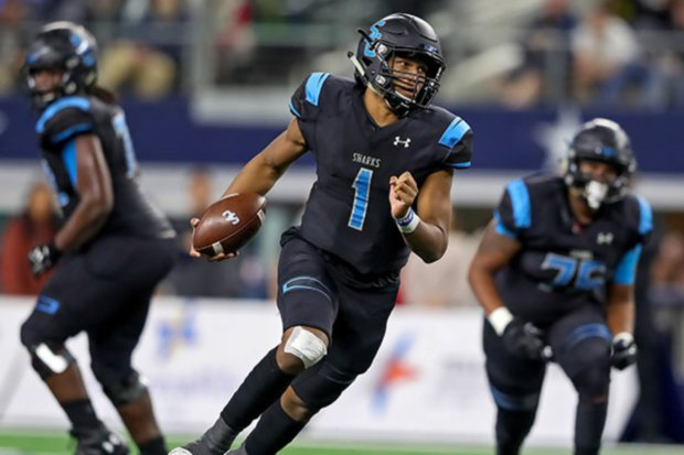 Class 5A Division 1 championship game MVP Kyron Drones threw for 185 yards and ran for 133 more in  win for Shadow Creek.