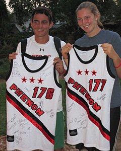 James Lock and Devon Roeper pose with their Phenom jerseys.