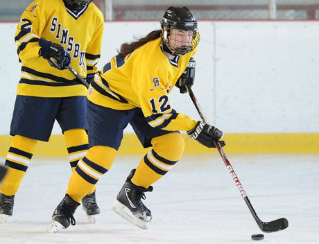Senior captain and defenseman Laura Yablecki helped lead Simsbury to the inaugural Pioneer Valley Winter Classic title at Simsbury Farms.