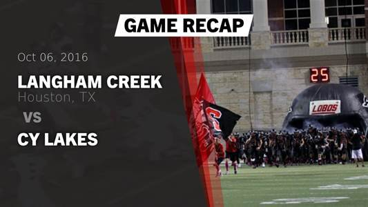 Football Game Preview: Cy-Fair vs. Langham Creek