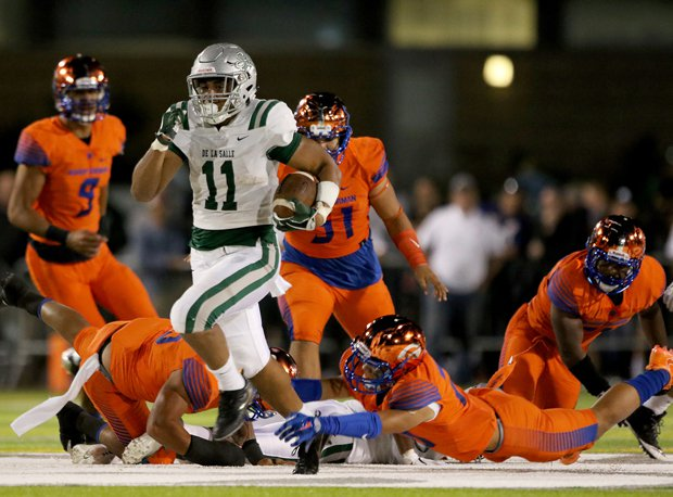 De La Salle senior Henry To'oto'o is being recruited heavily as a linebacker, but last week he rushed for touchdowns of 53 and 55 yards in a 27-21 win over Bishop Gorman.