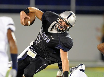 Gilman's Shane Cockerille was in the middle of the fray throughout.