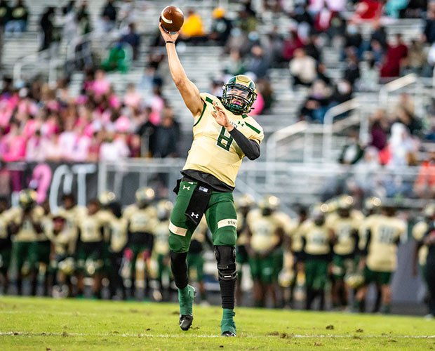 Jake Garcia gets ready to release a pass Friday night in Grayson's win over Parkview.
